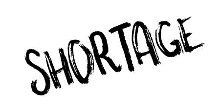 Shortage rubber stamp Illustration