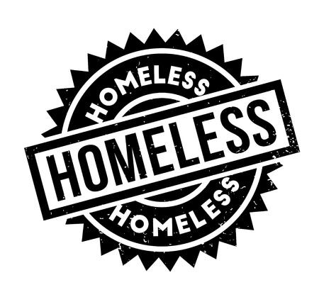 Homeless rubber stamp Illustration