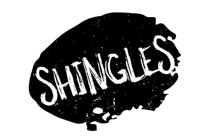 Shingles rubber stamp Stock Photo