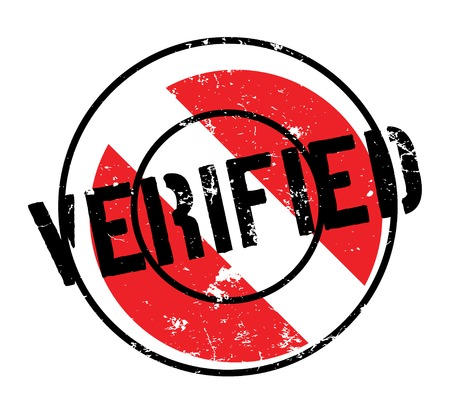 Verified rubber stamp. Grunge design with dust scratches. Effects can be easily removed for a clean, crisp look. Color is easily changed.