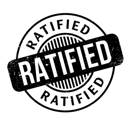 ratified: Ratified rubber stamp
