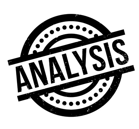 Analysis rubber stamp Illustration
