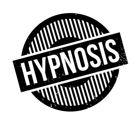 Hypnosis rubber stamp. Grunge design with dust scratches. Effects can be easily removed for a clean, crisp look. Color is easily changed. Illustration