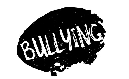 intimidate: Bullying rubber stamp Illustration