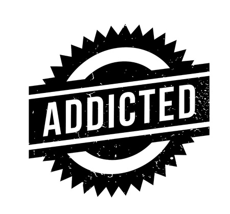 Addicted rubber stamp
