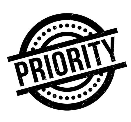 Priority rubber stamp Illustration