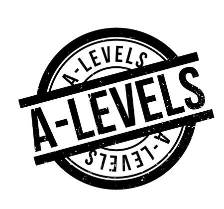 A-Levels rubber stamp Векторная Иллюстрация