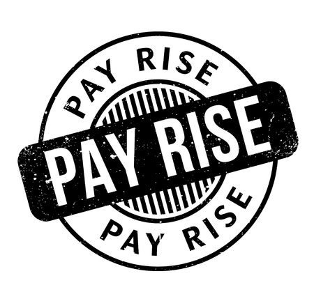 pay raise: Pay Rise rubber stamp Illustration