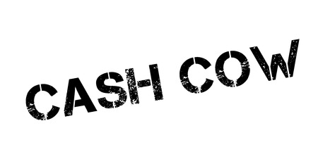 cash cow: Cash Cow rubber stamp