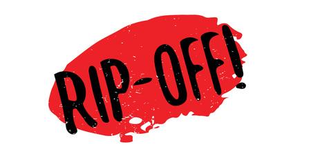Rip-Off rubber stamp Illustration