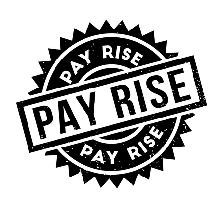 Pay Rise rubber stamp Illustration