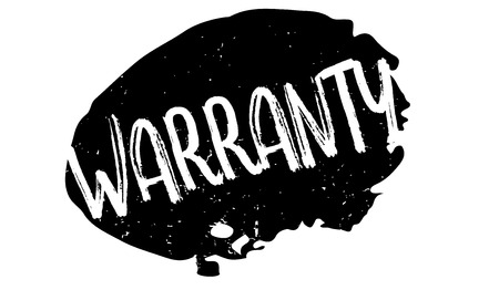 Warranty rubber stamp Ilustrace