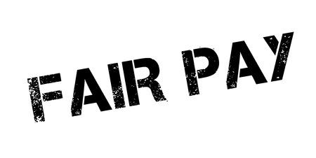 Fair Pay rubber stamp Ilustração Vetorial