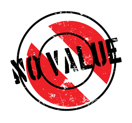 No Value rubber stamp