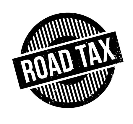 levied: Road Tax rubber stamp Illustration