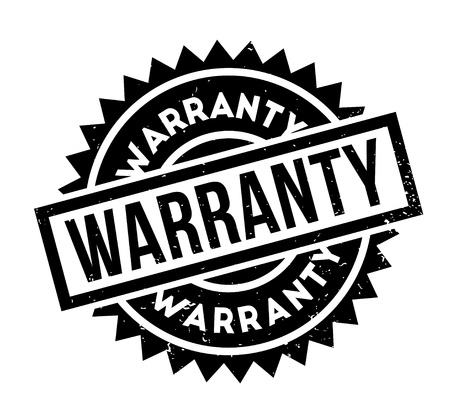 Warranty rubber stamp Illustration