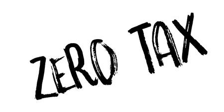Zero Tax rubber stamp