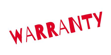 Warranty rubber stamp Stock Vector - 84971651