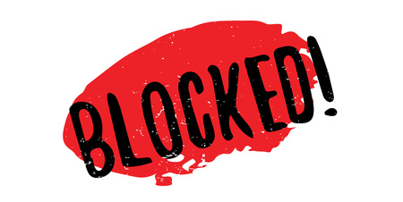 Blocked rubber stamp