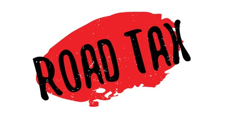 Road Tax rubber stamp Illustration