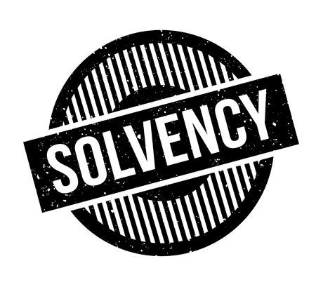 insolvent: Solvency rubber stamp Illustration