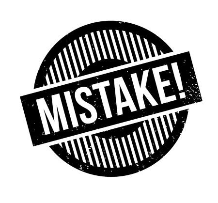blunder: Mistake rubber stamp