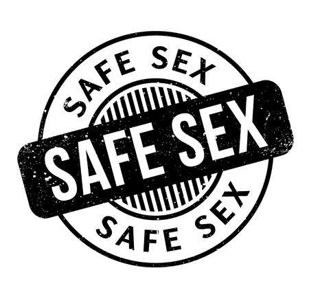 Safe Sex rubber stamp