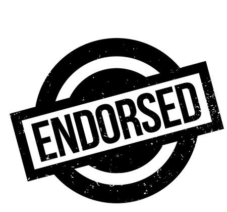 endorsed: Endorsed rubber stamp