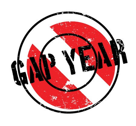Gap Year rubber stamp Stock Photo