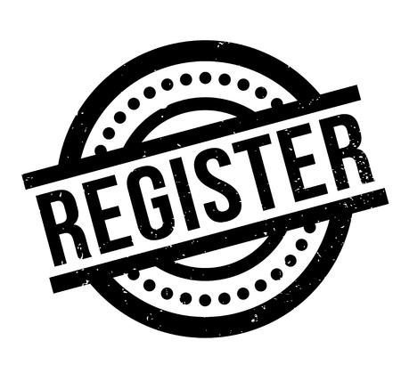 Register rubber stamp