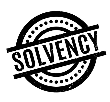 Solvency rubber stamp Stock Photo
