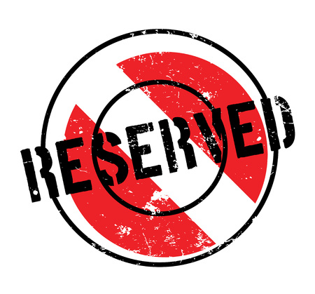 Reserved rubber stamp