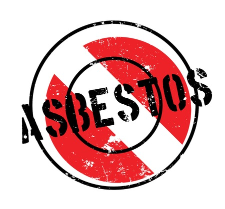 Asbestos rubber stamp Illustration