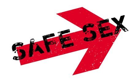 Timbro di gomma del sesso sicuro