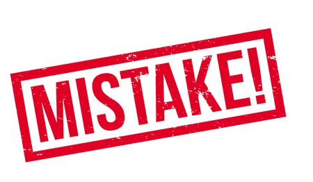 Mistake rubber stamp