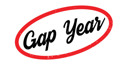 uni: Gap Year rubber stamp Stock Photo
