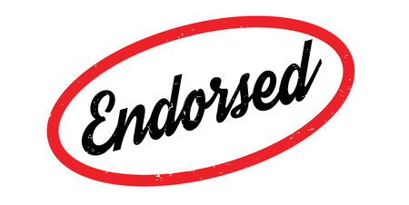 Endorsed rubber stamp
