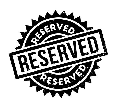 retained: Sello de goma reservado