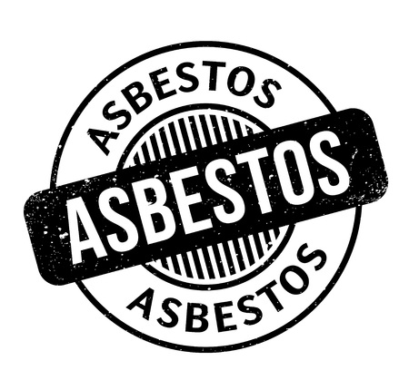 Asbestos rubber stamp Illustration