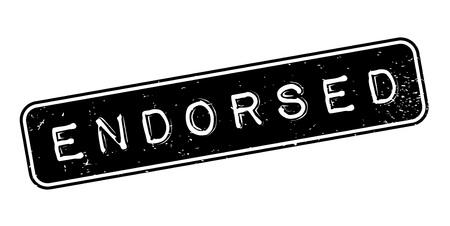 Endorsed rubber stamp