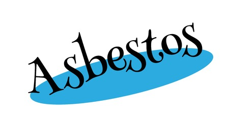mesothelioma: Asbestos rubber stamp vector illustration.