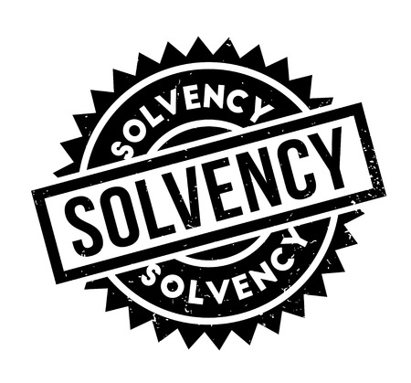 Solvency rubber stamp Illustration