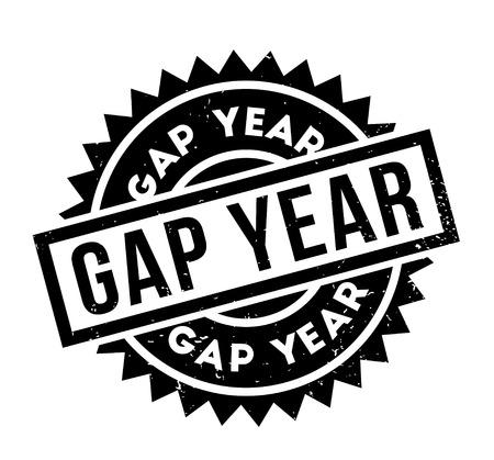 Gap Year rubber stamp Illustration