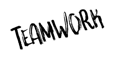 Teamwork rubber stamp design