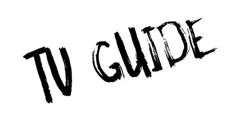 Tv Guide rubber stamp design Illustration