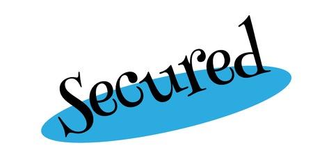 Secured rubber stamp design