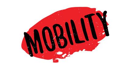Sello de goma de la movilidad Vectores