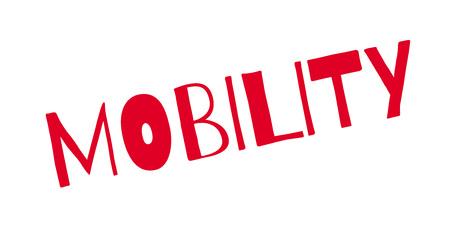 Mobility rubber stamp Illustration
