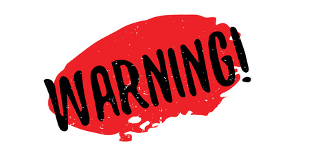 Warning rubber stamp