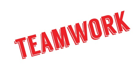 Teamwork rubber stamp Stock Photo